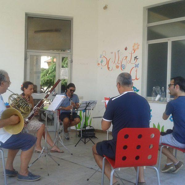 Quintetto a Fiati Orchestra Internazionale dItalia durante le prove