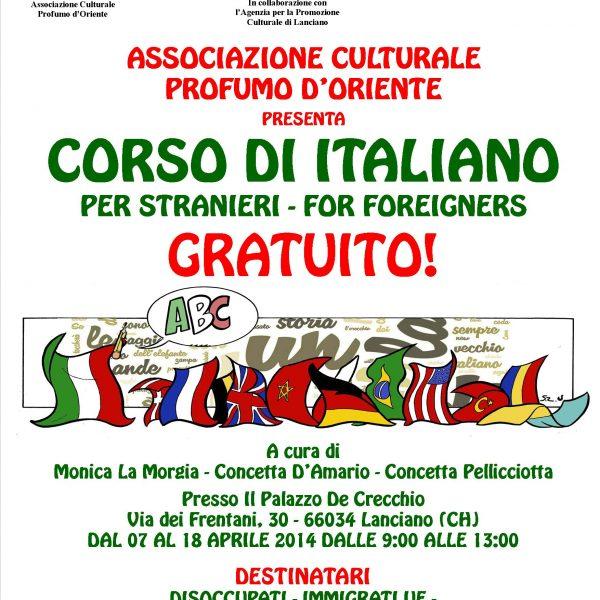 Locandina Italiano per stranieri